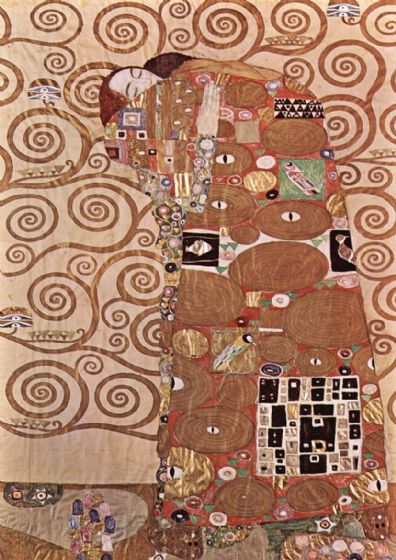 Klimt, Gustav: Study for Fulfilment/The Embrace. Fine Art Print/Poster. Sizes: A4/A3/A2/A1 (00631)